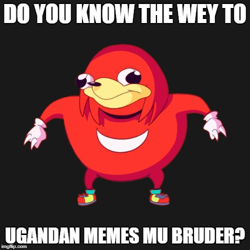 DO YOU KNOW THE WEY TO UGANDAN MEMES MU BRUDER? | image tagged in do you know they wey to x | made w/ Imgflip meme maker