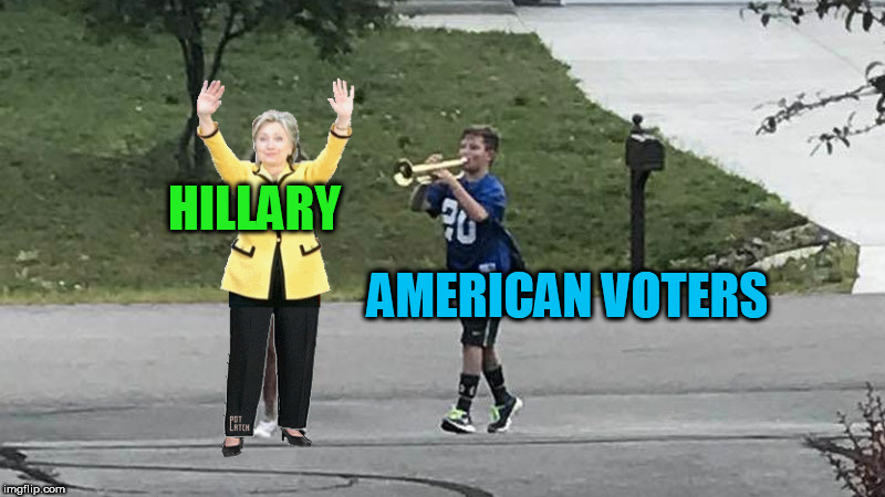 Trumpet Boy Object Labeling | HILLARY AMERICAN VOTERS | image tagged in trumpet boy object labeling | made w/ Imgflip meme maker