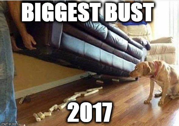 BIGGEST BUST 2017 | image tagged in busted | made w/ Imgflip meme maker