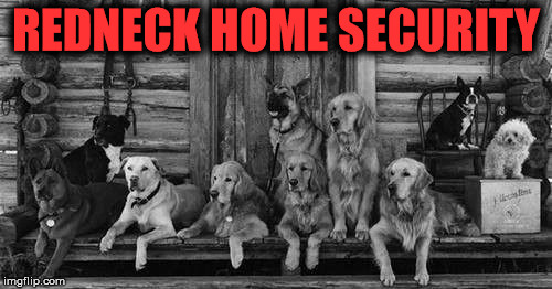 porch | REDNECK HOME SECURITY | image tagged in porch | made w/ Imgflip meme maker