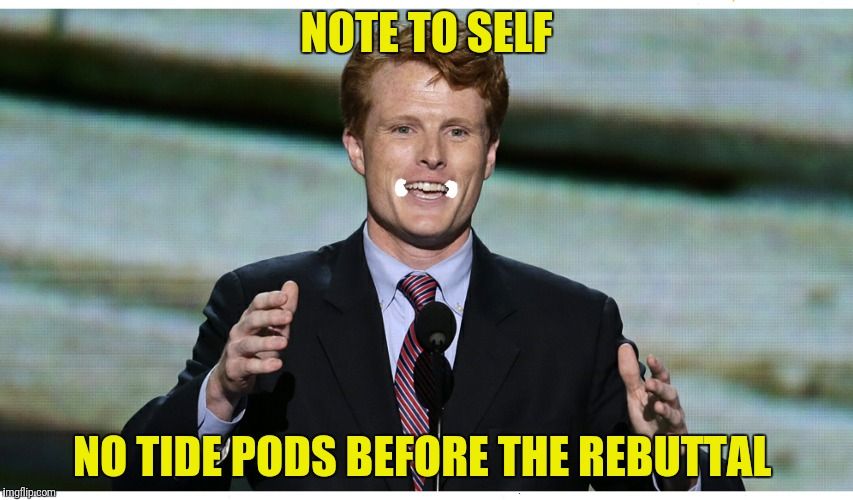 NOTE TO SELF NO TIDE PODS BEFORE THE REBUTTAL | made w/ Imgflip meme maker