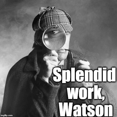 Splendid work, Watson | made w/ Imgflip meme maker