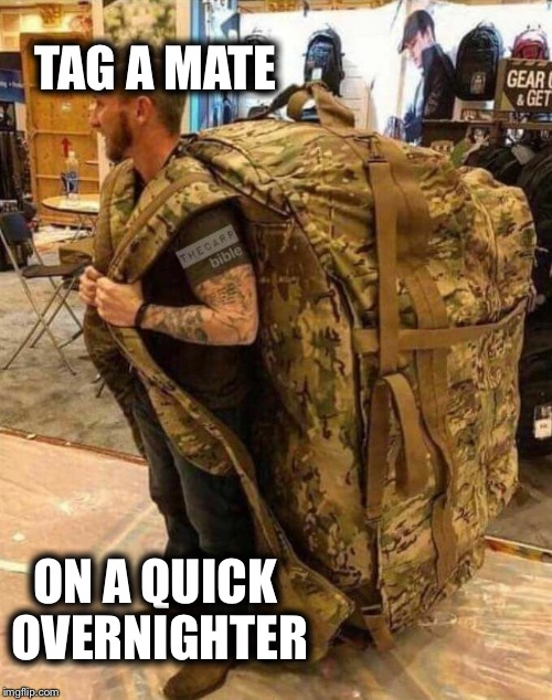 TAG A MATE ON A QUICK OVERNIGHTER | image tagged in carp,fishing,sports | made w/ Imgflip meme maker