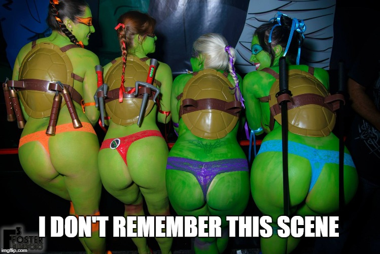 I DON'T REMEMBER THIS SCENE | image tagged in hot turtle | made w/ Imgflip meme maker