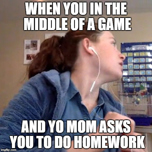 Annoyed Glare of Chappy | WHEN YOU IN THE MIDDLE OF A GAME AND YO MOM ASKS YOU TO DO HOMEWORK | image tagged in annoyed glare of chappy,cod,homework | made w/ Imgflip meme maker