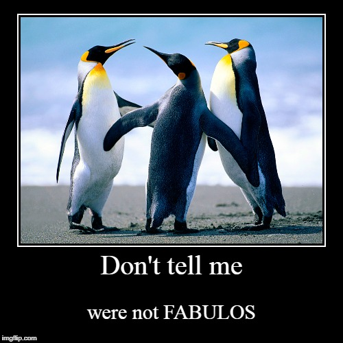 Don't tell me | were not FABULOS | image tagged in funny,demotivationals | made w/ Imgflip demotivational maker