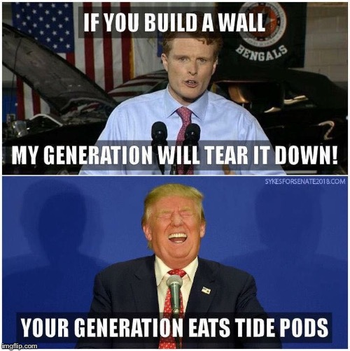 The political tide is changing | A | image tagged in politics,tide pods,funny memes,trump | made w/ Imgflip meme maker