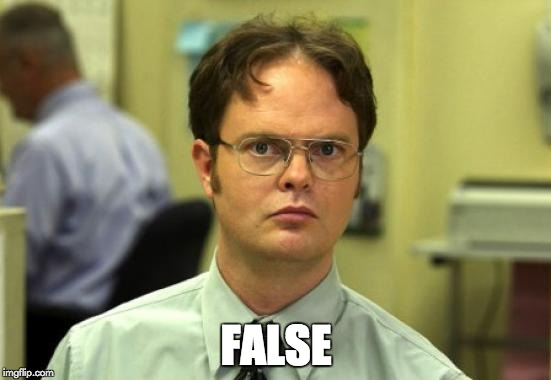 Dwight Schrute Meme | FALSE | image tagged in memes,dwight schrute | made w/ Imgflip meme maker