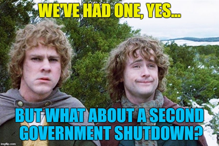 WE'VE HAD ONE, YES... BUT WHAT ABOUT A SECOND GOVERNMENT SHUTDOWN? | made w/ Imgflip meme maker