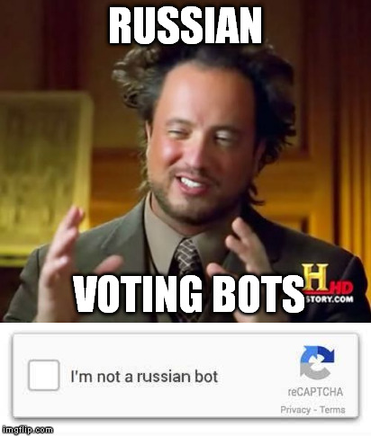 RUSSIAN VOTING BOTS | made w/ Imgflip meme maker