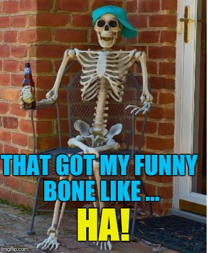 THAT GOT MY FUNNY BONE LIKE ... HA! | made w/ Imgflip meme maker