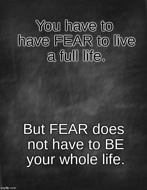 ON THE OTHER SIDE OF FEAR | You have to have FEAR to live a full life. But FEAR does not have to BE your whole life. | image tagged in fear,fearless | made w/ Imgflip meme maker