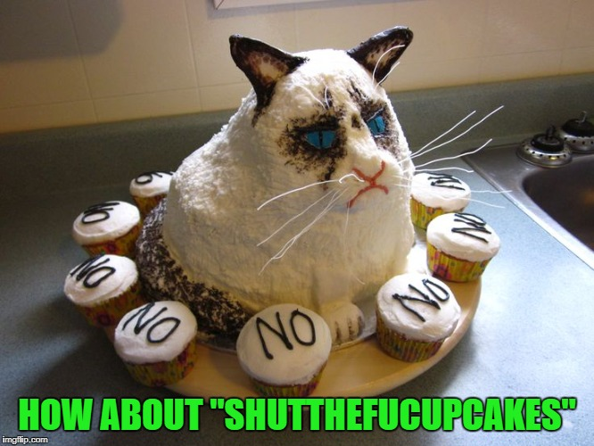 "HOW ABOUT ""SHUTTHEFUCUPCAKES"" 