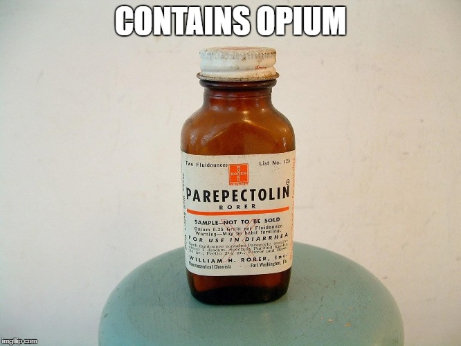 CONTAINS OPIUM | made w/ Imgflip meme maker