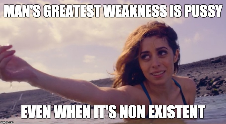 Man's greatest weakness | MAN'S GREATEST WEAKNESS IS PUSSY EVEN WHEN IT'S NON EXISTENT | image tagged in man's greatest weakness,black mirror,uss callister,black mirror uss callister | made w/ Imgflip meme maker