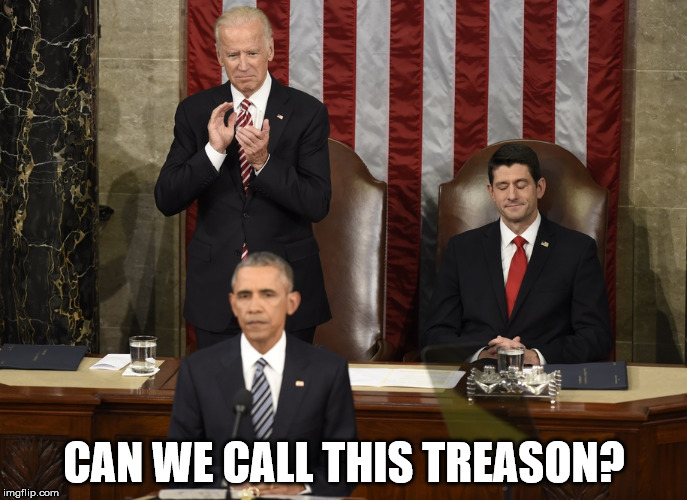 Paul Ryan during Obama SOTU | CAN WE CALL THIS TREASON? | image tagged in paul ryan | made w/ Imgflip meme maker