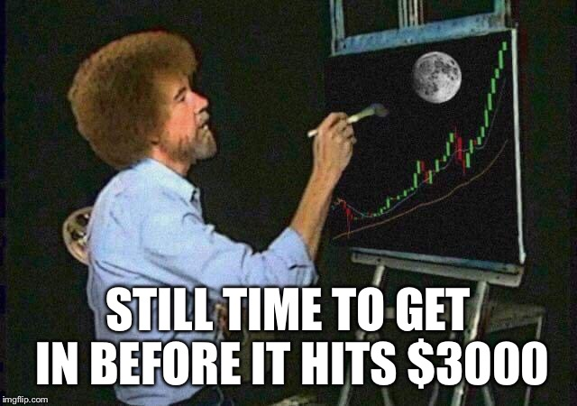 STILL TIME TO GET IN BEFORE IT HITS $3000 | made w/ Imgflip meme maker