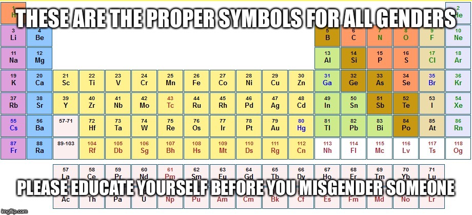 A psa to all you flippers imgflip a psa to all you flippers b image tagged in genderperiodic table urtaz