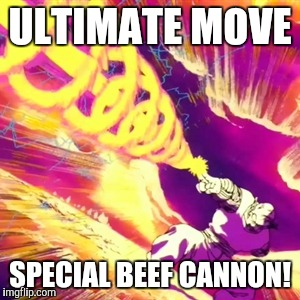 DBZ memes | ULTIMATE MOVE SPECIAL BEEF CANNON! | image tagged in piccolo,dbz,memes,stupid | made w/ Imgflip meme maker