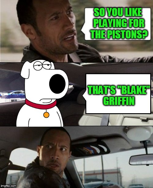 "The Rock Driving Blank 2 | SO YOU LIKE PLAYING FOR THE PISTONS? THAT'S ""BLAKE"" GRIFFIN 