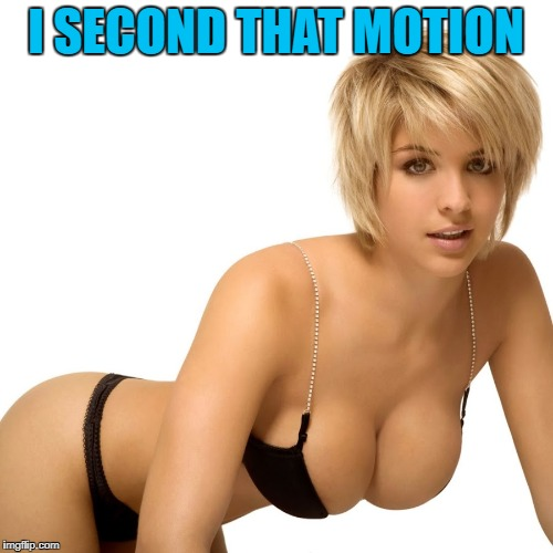 I SECOND THAT MOTION | made w/ Imgflip meme maker