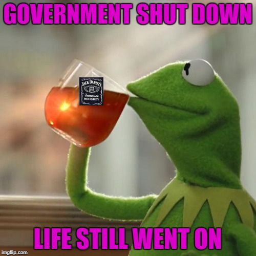 GOVERNMENT SHUT DOWN LIFE STILL WENT ON | made w/ Imgflip meme maker