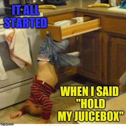 "Hey ya'll watch this! | IT ALL STARTED WHEN I SAID ""HOLD MY JUICEBOX"" 