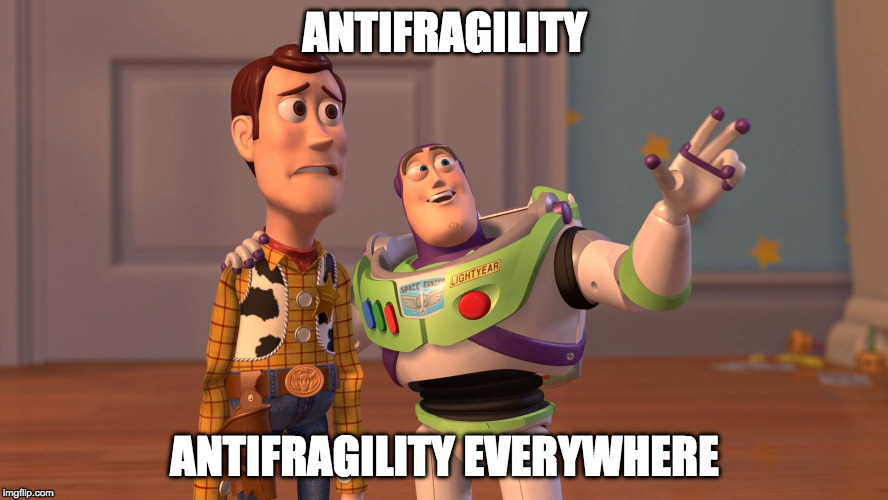 A funny meme about antifragility