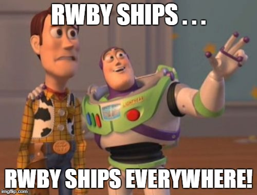 X, X Everywhere Meme | RWBY SHIPS . . . RWBY SHIPS EVERYWHERE! | image tagged in memes,x,x everywhere,x x everywhere | made w/ Imgflip meme maker