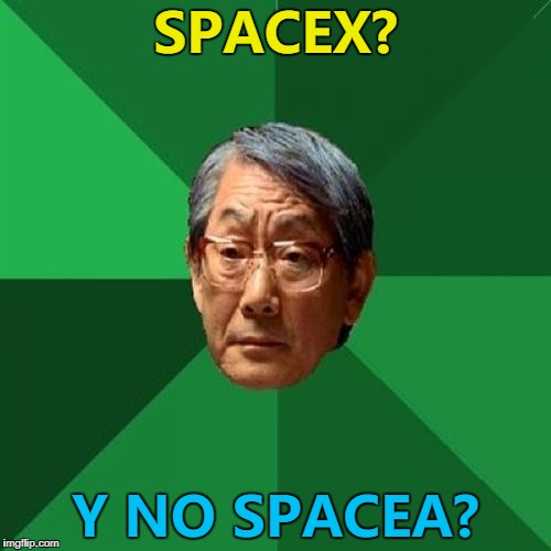 "Maybe ""SpaceA"" was his first attempt... :) 
