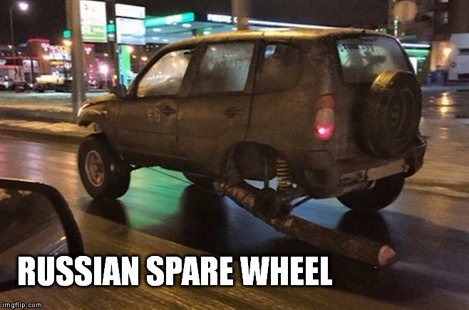RUSSIAN SPARE WHEEL | made w/ Imgflip meme maker