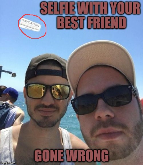 SELFIE WITH YOUR BEST FRIEND GONE WRONG | image tagged in vacation gone wrong | made w/ Imgflip meme maker