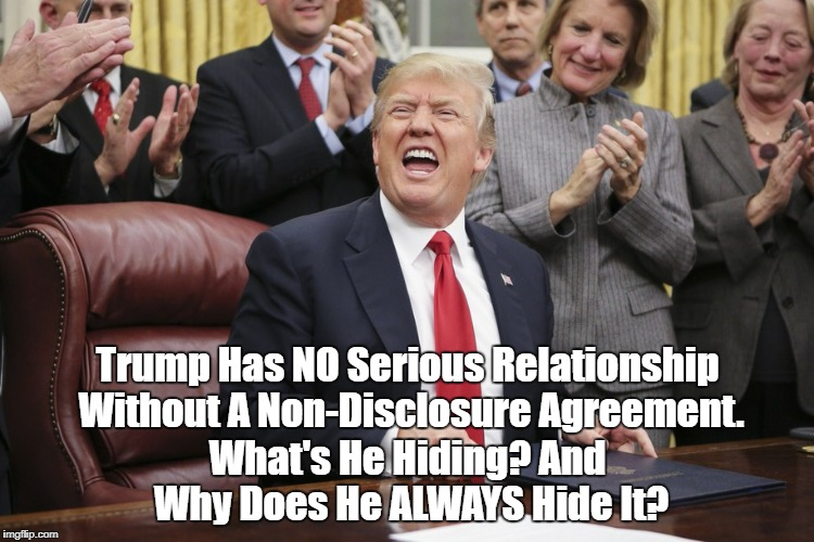 """Trump's Insistence On Non-Disclosure Agreements: What's He Hiding?"" 