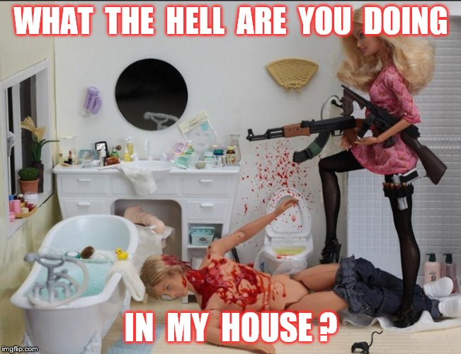 WHAT  THE  HELL  ARE  YOU  DOING IN  MY  HOUSE ? | made w/ Imgflip meme maker