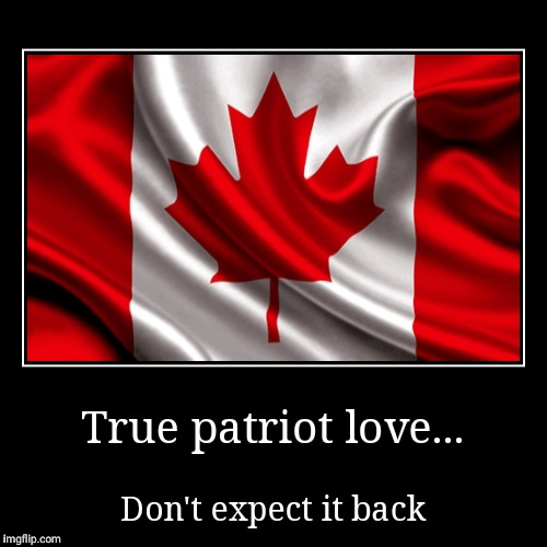 True patriot love... | Don't expect it back | image tagged in funny,demotivationals | made w/ Imgflip demotivational maker