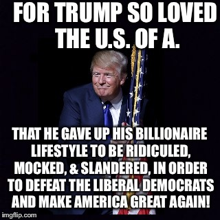 . | image tagged in trump so loved america | made w/ Imgflip meme maker