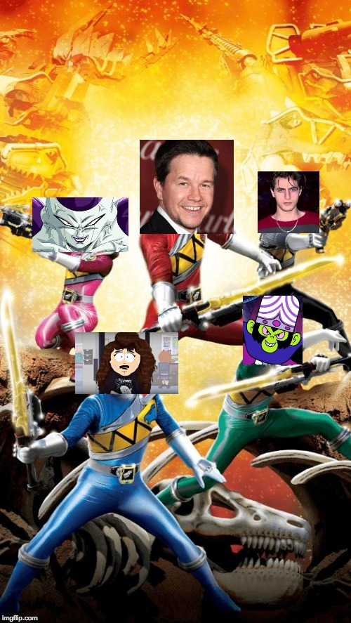 Mark Wahlbergs Power Ranger Team | image tagged in power rangers dino charge | made w/ Imgflip meme maker