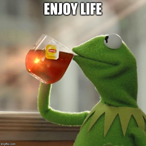 But Thats None Of My Business Meme | ENJOY LIFE | image tagged in memes,but thats none of my business,kermit the frog | made w/ Imgflip meme maker