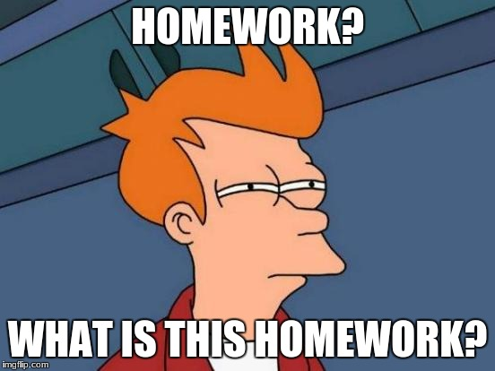 Futurama Fry Meme | HOMEWORK? WHAT IS THIS HOMEWORK? | image tagged in memes,futurama fry | made w/ Imgflip meme maker