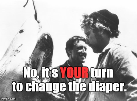 No, it's YOUR turn to change the diaper. YOUR | made w/ Imgflip meme maker