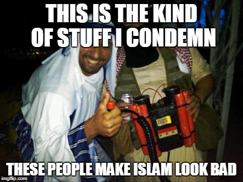 Muslim clock bomb | THIS IS THE KIND OF STUFF I CONDEMN THESE PEOPLE MAKE ISLAM LOOK BAD | image tagged in muslim clock bomb,muslim,muslims,islam,bad example,detestable | made w/ Imgflip meme maker