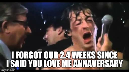 I FORGOT OUR 2.4 WEEKS SINCE I SAID YOU LOVE ME ANNAVERSARY | made w/ Imgflip meme maker