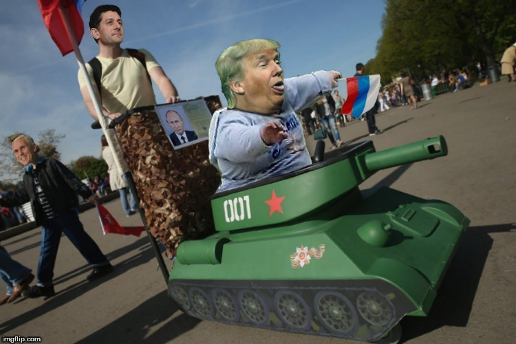 trump's military parade | image tagged in trump,parade,tanks,paul ryan,mike pence,putin | made w/ Imgflip meme maker