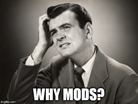 WHY MODS? | made w/ Imgflip meme maker
