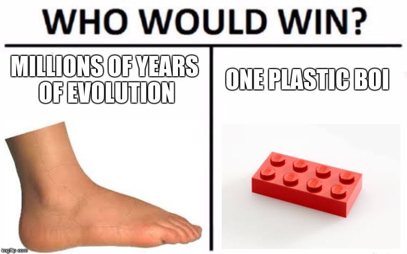Who Would Win? Meme | MILLIONS OF YEARS OF EVOLUTION ONE PLASTIC BOI | image tagged in memes,who would win | made w/ Imgflip meme maker