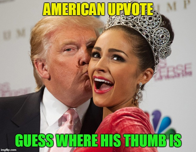 AMERICAN UPVOTE GUESS WHERE HIS THUMB IS | made w/ Imgflip meme maker