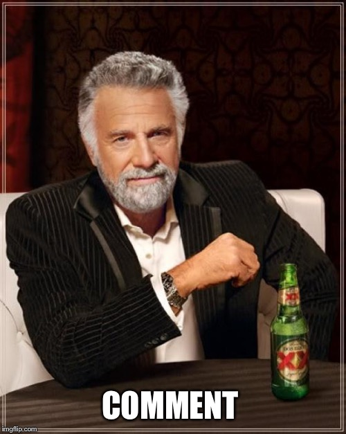The Most Interesting Man In The World Meme | COMMENT | image tagged in memes,the most interesting man in the world | made w/ Imgflip meme maker