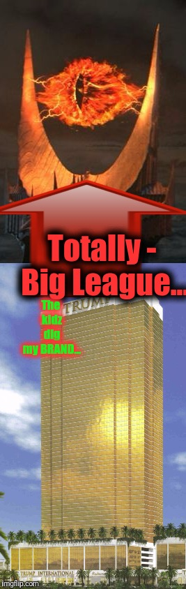 Totally - Big League... The kidz dig my BRAND... | made w/ Imgflip meme maker