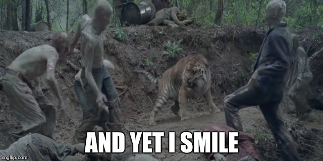AND YET I SMILE | image tagged in rip shiva | made w/ Imgflip meme maker