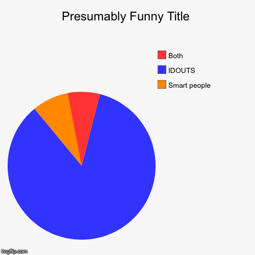 Smart people , IDOUTS, Both | image tagged in funny,pie charts | made w/ Imgflip pie chart maker
